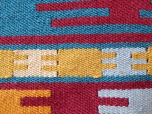 Kilim with slits-detail