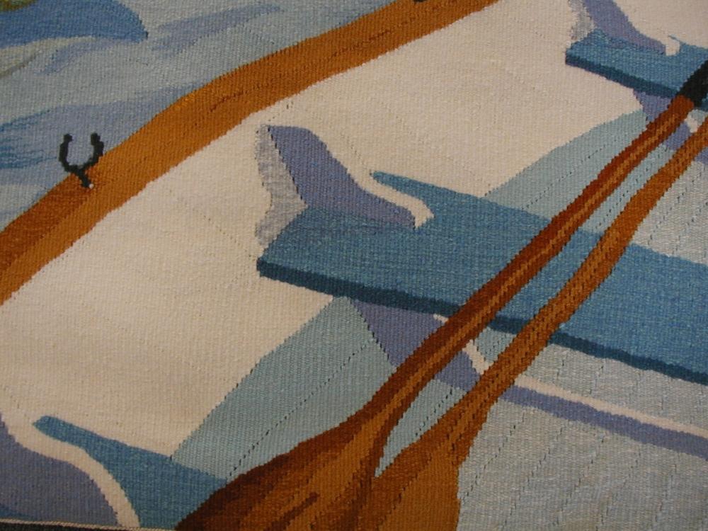 Closeup of Rowboat Floor